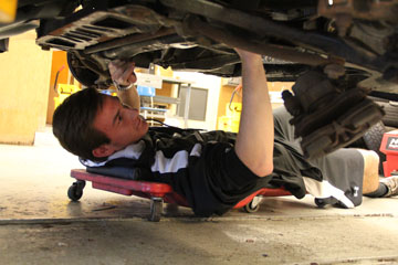 Riley Burkley Has Become King Of The Highland Autobody Shop