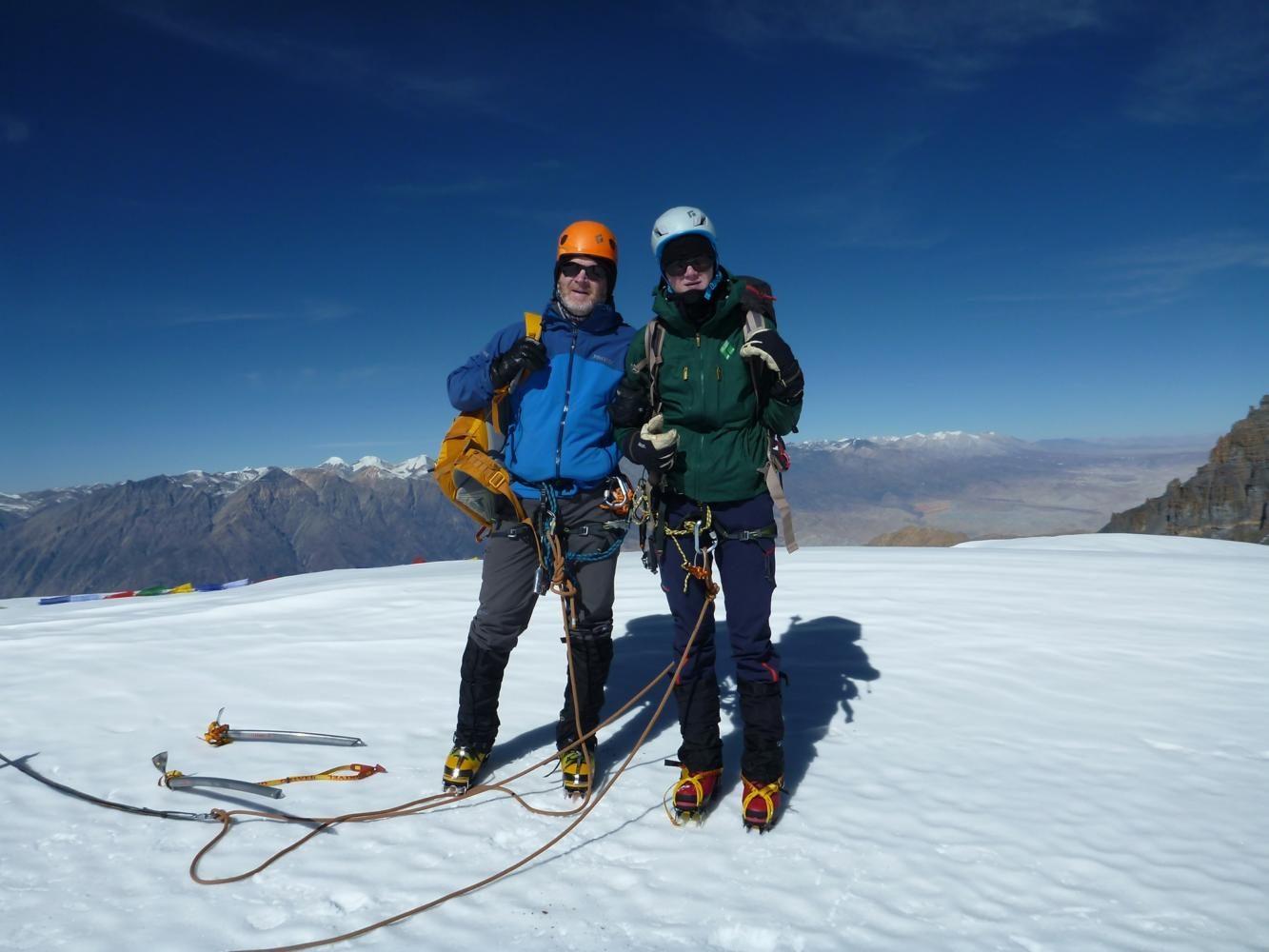 Christian+Whisenant+poses+with+his+father+Jonathon+Whisenant+while+trekking+in+Nepal.