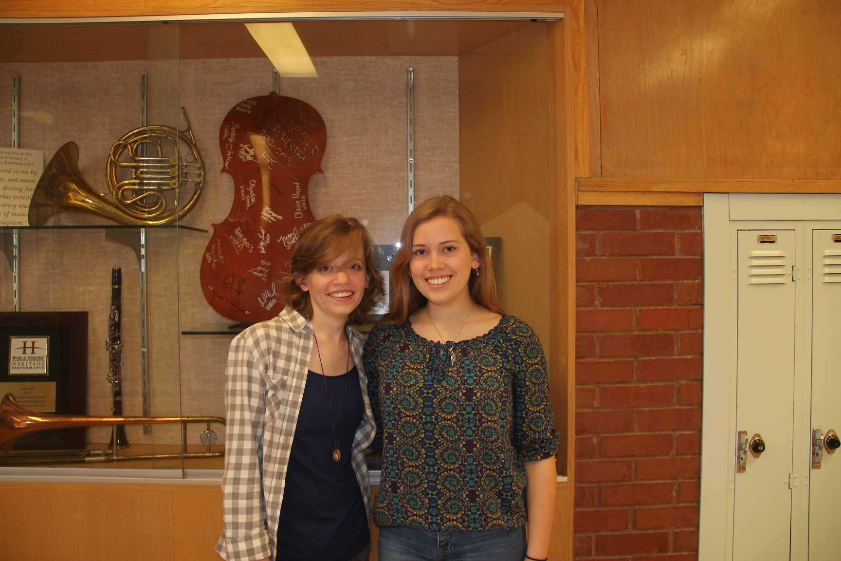 Emma Lund, (L), and  Bethany McCombe, (R), were accepted into the Utah All-State Orchestra