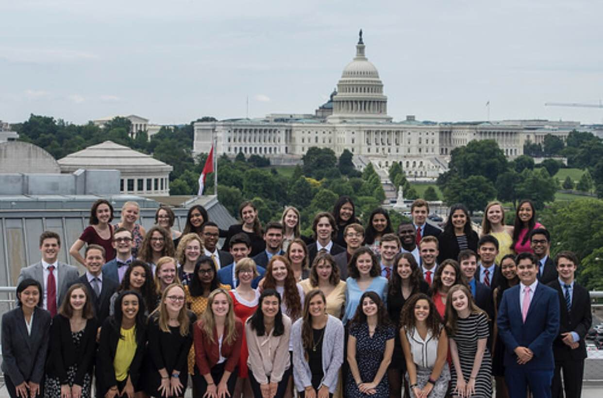 The students selected for the Al Neuharth Free Spirit and Journalism Conference traveled to Washington D.C. for five journalism-filled days.