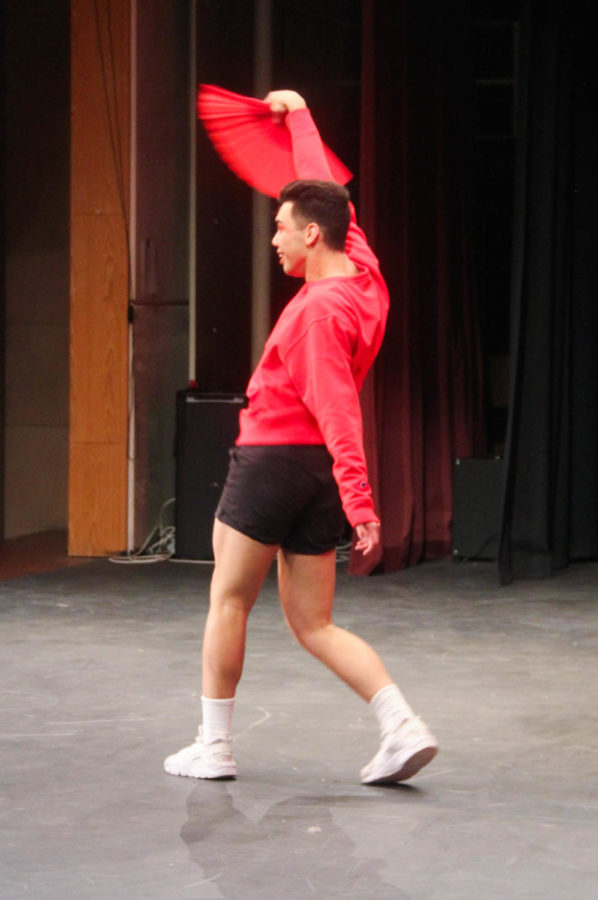 Trey Tuitau performs his Latin inspired dance at the Talents and Traditions assembly.