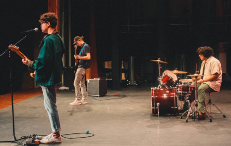 SLC Band Blue Rainboots Make Suprise Apperance At Talents And Traditions Assembly