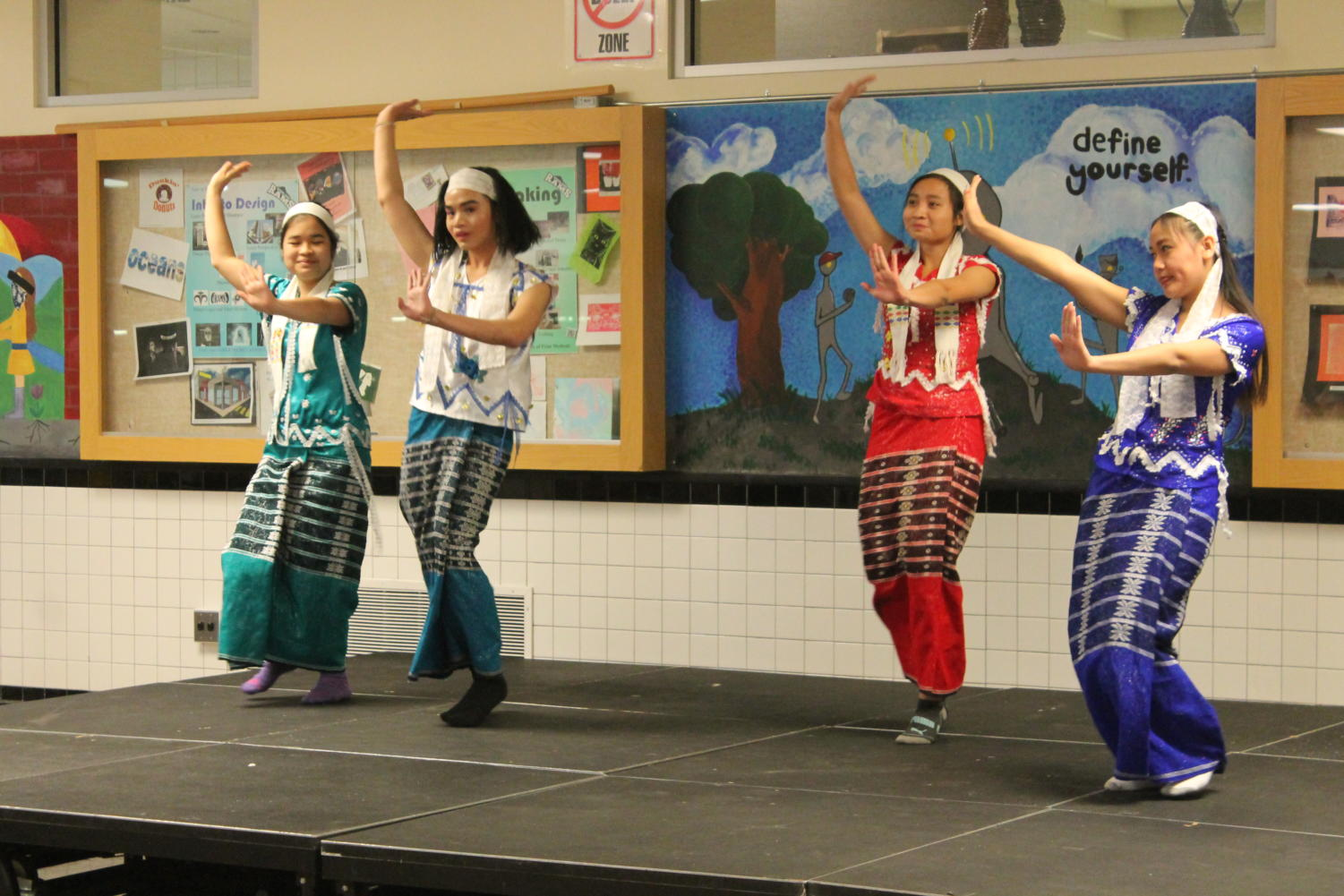 Students perform at the Highland culture night.