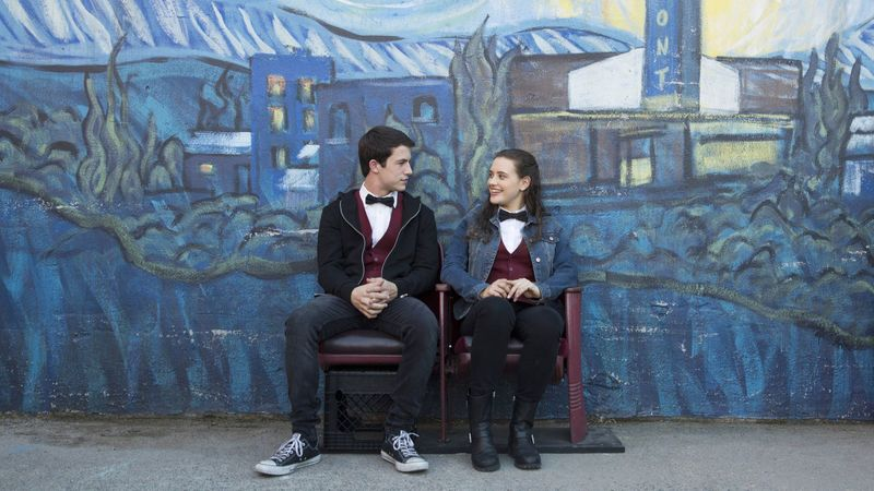 13+Reasons+Why+stars+Katherine+Langford+and+Dylan+Minnette.