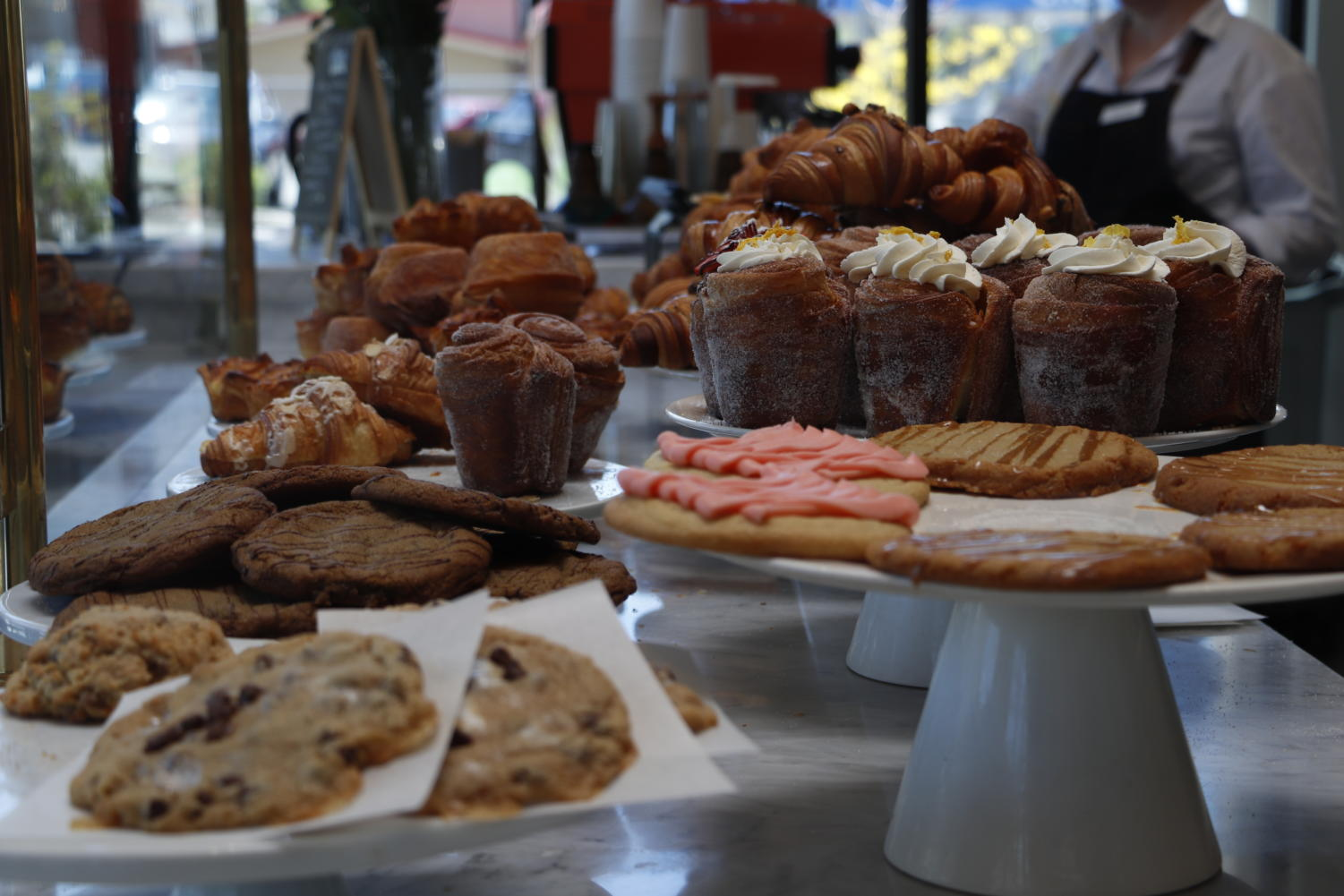 Beaumont Bakery & Cafe has a large selection of pastries.