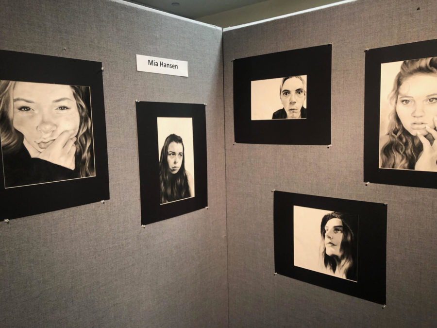 Mia Hansen's charcoal portraits displayed at