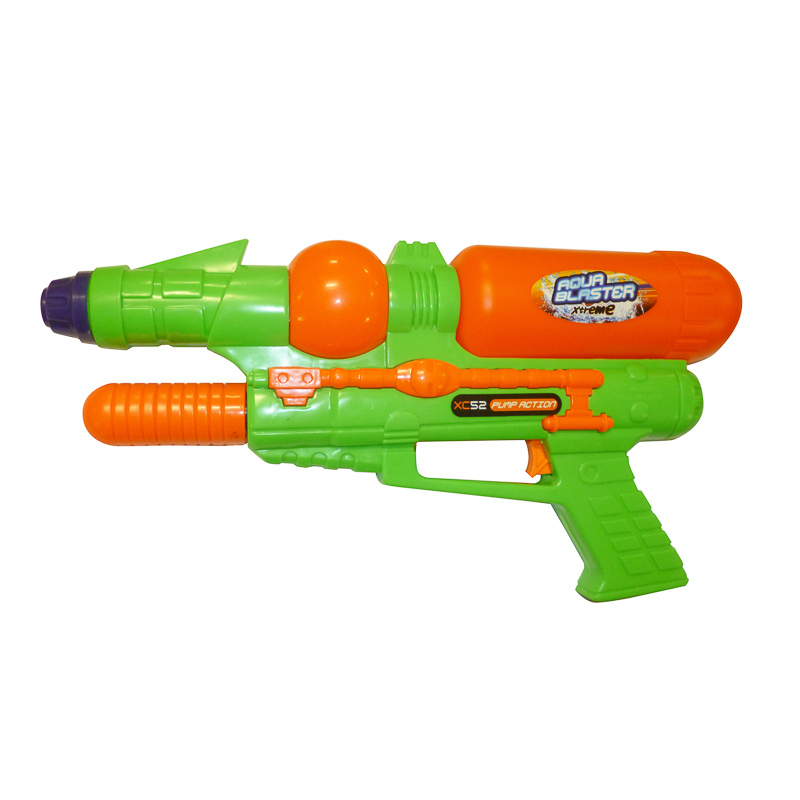 Toy water guns are used to eliminate players.