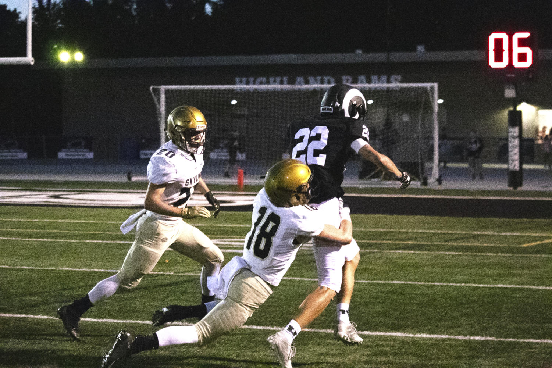 Zach Levy running the ball against Skyline.