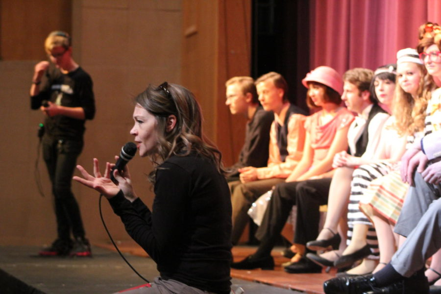 Director+Alexie+Baugh+addresses+the+audience+at+the+talkback.