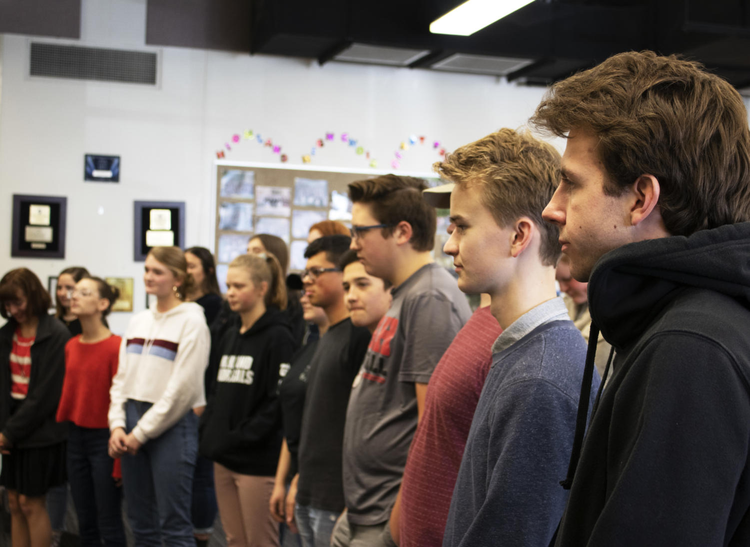 The Madrigals practice for the holiday season.