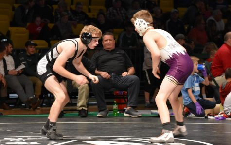 Colin Sierer (left) faces Tristan Smith (right) at the All-Star wrestling match.