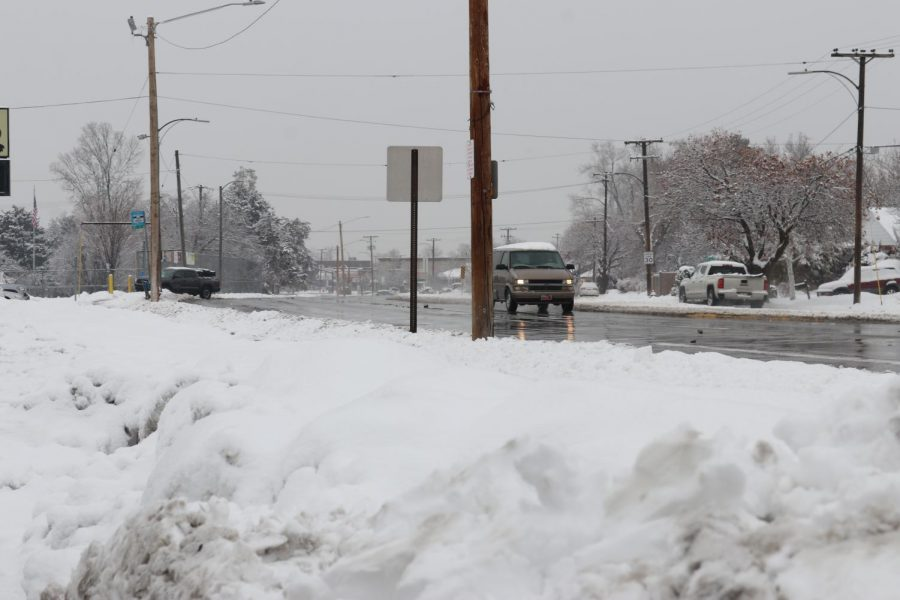 Snowy roads make it difficult for students to get to school.