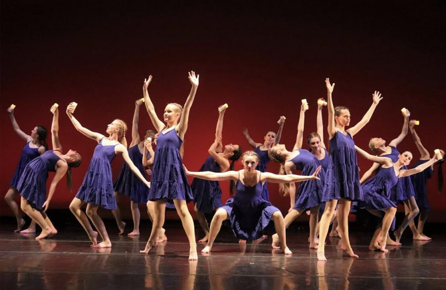 Members of Highland's Dance Company dancing during a dress rehearsal before their concert got canceled.