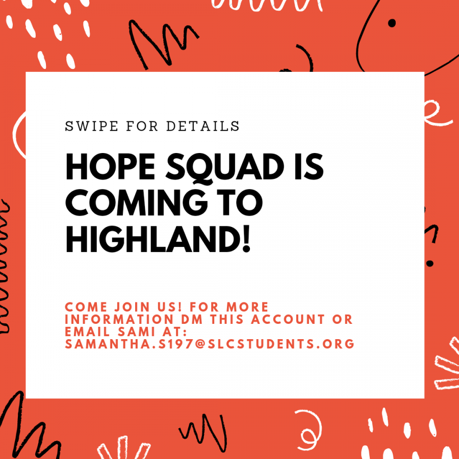 The Highland Hope Squad kicks things off on their Instagram page with posters designed by Sami Solomon, the President of the Highland Hope Squad and the Highland Liaison of the SPA Hope Squad.